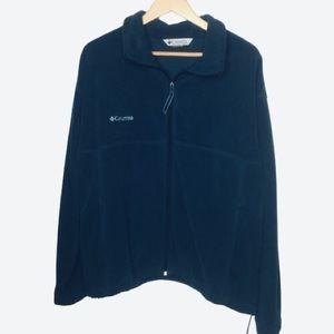Columbia blue zipper up fleece SZ Xl
